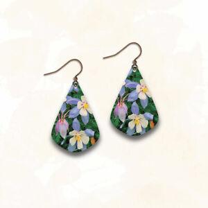 DC Designs Jewelry WYK16JE EARRINGS Antique Copper Flowers Wearable Art
