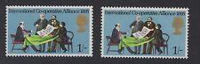 1970 Anniversaries. SG821eya. 1s Brown + phosphor omitted error. Unmounted mint.