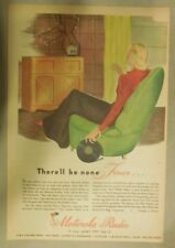 Motorola Ad: There'll Be None Finer! Motorola Phonograph! from 1945