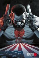 VALIANT BLOODSHOT AMERICAN FLAG 24x36 POSTER NINTENDO VIDEO GAME COMIC BOOK NEW!