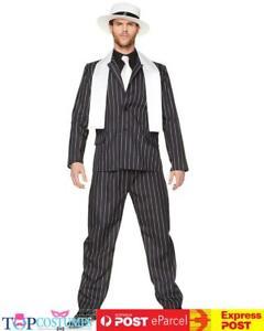Gangster Boss 1920s Gentleman  Chicago Roaring Mens Gatsby Pimp Costume