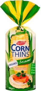 Real Foods Corn Thins Sesame 150g