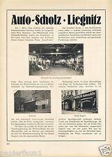 Auto Scholz Liegnitz XL Advertising 1923 Horch Workshop Car House Legnica Advertising AD