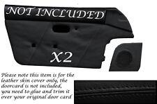 BLACK STITCH FITS MAZDA MX5 MK1 MIATA EUNOS 89-1997 2X DOOR CARD LEATHER COVERS