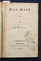 Michelet Das Volk 1846 Geschichte Handwerk Natur Gesellschaft Vaterland sf