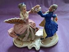 Antike Rokoko Barock-Figur, Porzellan, * Tanzendes Paar * mit Bodenmarke * 20356