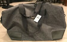 NWT Buckle Brand Store Gray Shoulder Strap Weekender Bag Duffle Canvas $79.50