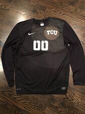 Game Worn TCU Horned Frogs Soccer Jersey Texas Christian Goalie Nike #00 Size L