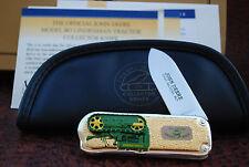 FRANKLIN MINT 1943 MODEL BO JOHN DEERE TRACTOR KNIFE IN ZIPPER POUCH (IS35)