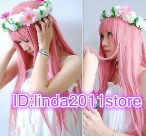 Megurine Luka Cosplay Wigs Pink Full Party Hair Lolita Japan Anime