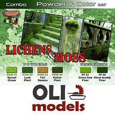 Lichens & Moss Diorama Color & Pigment Combo Set 6x20ml Lifecolor Spg6