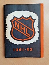 1961-62 NHL HOCKEY LEAGUE PRESS & RADIO GUIDE VG-EX 236 PAGES