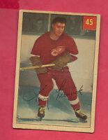 1954-55 PARKHURST # 45 WINGS TONY LESWICK  CARD