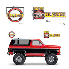 2pcs 3D Metal Plate Logo Sticker Set for Traxxas Trx-4 RC4WD Chevrolet K5 Blazer