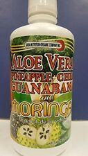 Aloe Vera, Pineapple+Chia Guanabana And Moringa