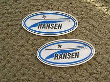 2 Hansen surfboard surfing longboard surfer sticker original surf decal cali