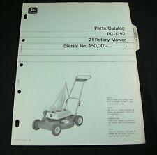 Jd John Deere 21 Rotary Lawn Mower Parts Manual Book Catalog S/N 150,001- Oem
