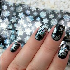 Nail Art Transfer Foils Sticker Christmas Snowflake Holographic Paper Tips tR88