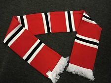 Red White and Black bars Football Scarf MUFC manchester United utd old trafford