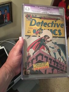 Detective Comics #81 CGC 6.5 Off-White Pages! Restored Golden Age 1st Cavalier!