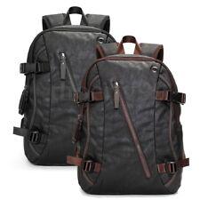 AU Men's Vintage Leather Backpack Rucksack Travel Satchel Laptop School Bag New