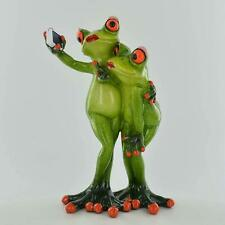 More details for comical frog statue tennis player sculpture novelty gift home decor decoration