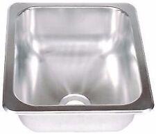 "13 x 15 Stainless Steel Sink Single Bowl 2"" drain rv trailer wash SSS-1315-5-22"
