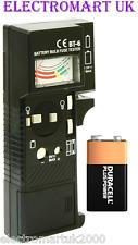 LAMPADINA Lampada Batteria Fusibile continuità Tester Checker 1.5V 9V AA AAA C D PP3