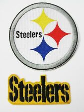 (1) LOT OF (2) NFL STEELERS EMBROIDERED PATCHES - NAME & LOGO (TYPE D) ITEM #12