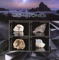 St Vincent & Grenadines 2018 MNH Gemstones Opal Quartz 4v M/S II Minerals Stamps
