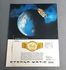 PUBLICITE ANCIENNE ADVERT CLIPPING 310817 / MONTRE CALENDRIER ETERNA-MATIC 3000