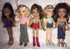 Lot Of 5 Lil Bratz Dolls Cloe Yasmin Sasha With Clothes & Shoes