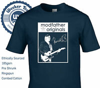 Paul Weller Tribute T Shirt Modfather Originals - New Casual Mod Scooter The Jam