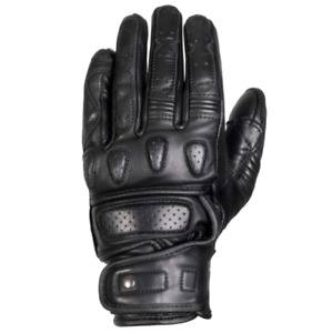 MERLIN FINLAY ONYX LEATHER GLOVES - BLACK - ALL SIZES