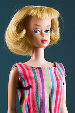 "1966 Rare ""High Color"" American Girl Barbie Long Blonde Hair #1070"