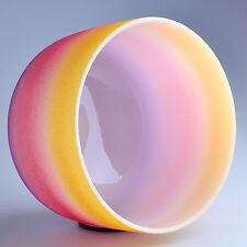 8'' E Solar Rainbow Frosted Chakra Crystal Quartz Singing Bowl Heal Stone X-mas