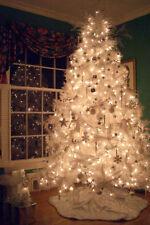 Elegant Pre-Lit 6.5' Madison Pine White Artificial Christmas Tree - Multi Lights