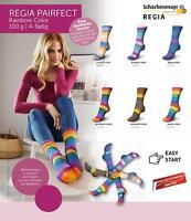 7,95€ / 100 Gr Regia Pairfect Rainbow Sock Yarn 4-fach = 2 Identical Socks