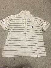 Ralph Lauren white with navy stripes top size S (a3)