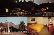 Springdale Utah Pioneer Lodge Multiview Vintage Postcard K35115