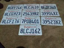 10 CALIFORNIA LICENSE PLATE LOT OF 10 PLATE