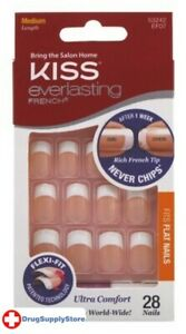 BL Kiss Everlasting French Nail Kit Medium Perpetual 28 Nails - Two PACK