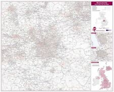 Manchester Postcode Sector Map for Office - Rollerblind, Acrylic & Magnet Board