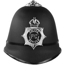 English British Police Bobby Helmet Hat Plastic Adult Kid costume