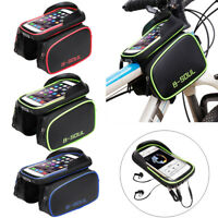 """6.2"""" Bicycle Cycling Frame Bag Pannier Tube Pouch Touch Screen Bike Phone Holder"""