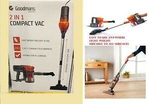 Goodmans 2 in 1 Compact Vacuum Cleaner Washable Filter 600W,Light & Easy to use
