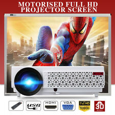 5000LUMEN LED 3D FHD 1080P VIDEO PROIETTORE HOME THEATER CINEMA HDMI VGA AV USB