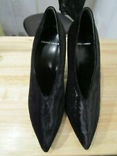 Pierre Hardy UK 5.5 EU 38.5 Black velour velvet Court Shoes RRP £ 500.00