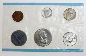 1962 PD UNITED STATES COIN SET GEM BU ORIGINAL ENVELOPE INCLUDED