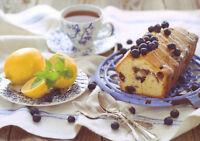 Breakfast Tea with cake and lemon Tea Party Russia Modern Photo Postcard